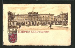 Lithographie Elberfeld, Bahnhof Döppersberg