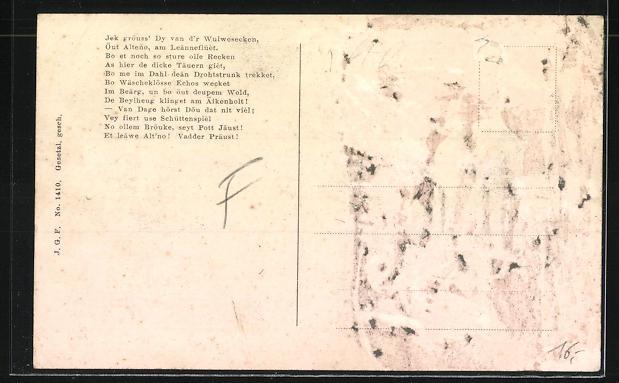 AK Altena, zur Erinnerung an die Fahnenweihe der Friedrich Wilhelm-Schützengesellschaft 1912 1