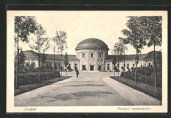 AK Crefeld, Friedhof, Krematorium und Leichenhalle 0