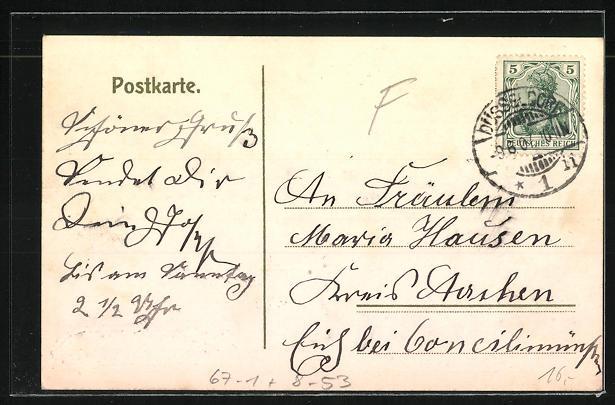 AK Düsseldorf, 21. Wanderausstellung d. deutschen Landwirtschaftsgesellschaft 1907, Kuhstall 1