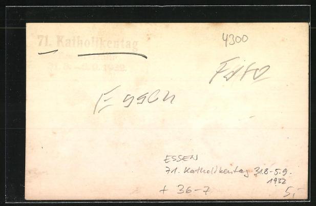 AK Essen, 71. Katholikentag 31.08.-5.09.1932 1