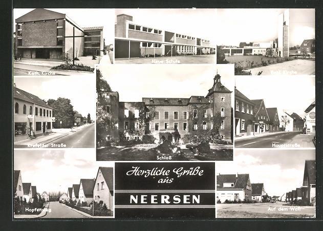 AK Neersen, Krefelder Strasse, Hauptstrasse, Hopfenweg 0