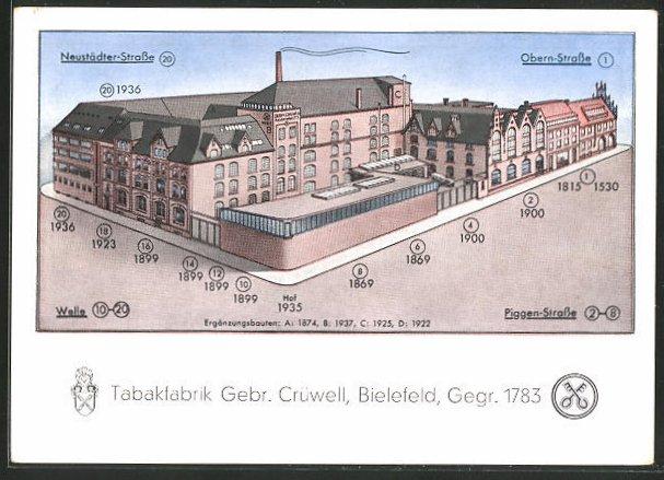 AK Bielefeld, Tabakfabrik Gebr. Crüwell 0