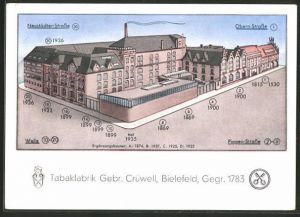 AK Bielefeld, Tabakfabrik Gebr. Crüwell