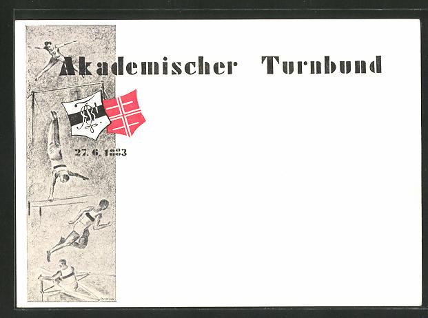 AK Akademischer Turnbund mit Turnern, 27.6.1883, turnen 0