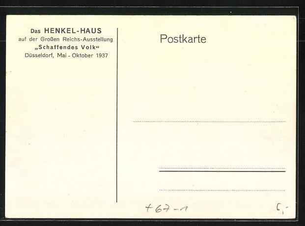 Künstler-AK Düsseldorf, das Henkel-Haus auf der Grossen Reichs-Ausstellung