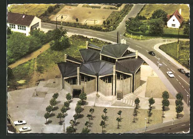 AK Emmerich-Leegmeer, Heilig-Geist-Kirche aus der Vogelschau 0