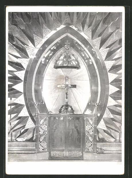 AK Rheindahlen, Expositorium des neuen Hochaltars in der St. Helena-Pfarrkirche 0