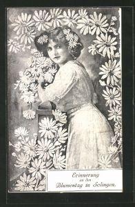 AK Solingen, Erinnerung an den Blumentag, Blumenmädchen