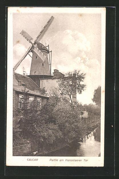 AK Calcar, Hanselaerer Tor und Mühle um 1926 0