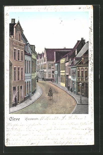 Goldfenster-AK Cleve, Partie in der Klosterstrasse 0