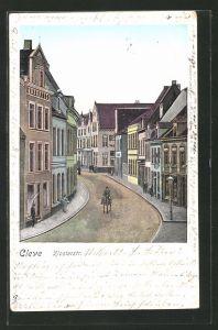 Goldfenster-AK Cleve, Partie in der Klosterstrasse
