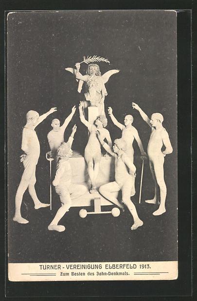 AK Elberfeld, Turner-Vereinigung 1913, zum Besten des Jahn-Denkmals 0