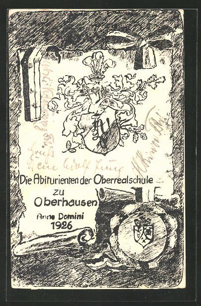 AK Oberhausen, Die Abiturienten der Oberrealschule Anne Domini 1926, Absolvia