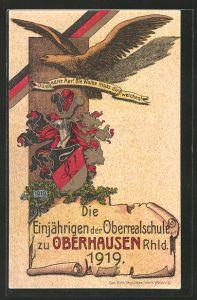 AK Oberhausen, Die Einjährigen der Oberschule 1919, Durch edler Aar! Die Wolke muss dir weichen!, Absolvia