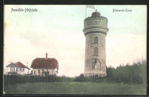 AK Aumühle-Hofriede, Ansicht vom Bismarck-Turm