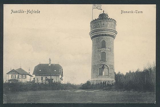 AK Aumühle-Hofriede, Blick auf den Bismarck-Turm