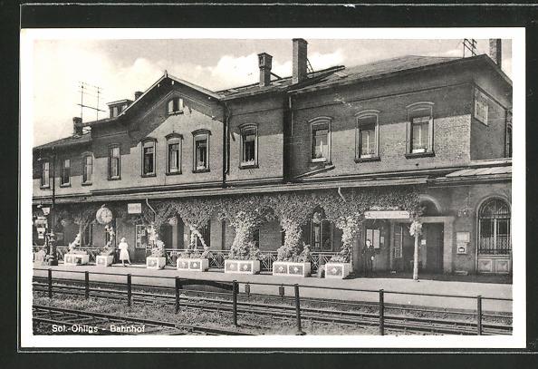 AK Ohligs, Bahnsteig am Bahnhof