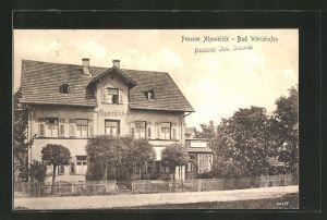 AK Bad Wörishofen, Teilansicht mit Hotel-Pension Alpenblick