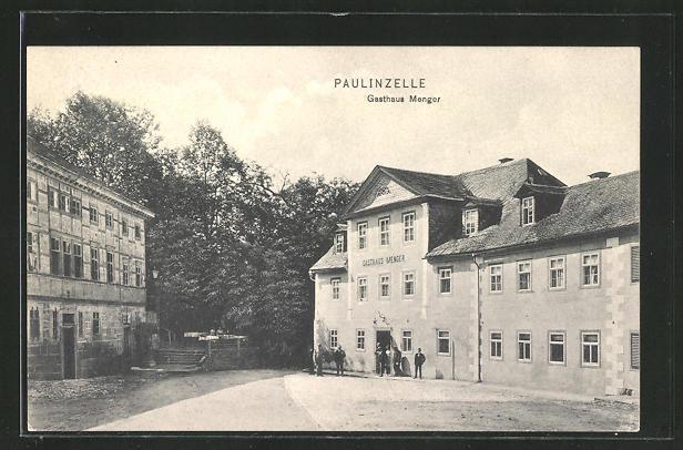 AK Paulinzelle, Gasthaus Menger