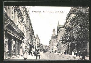 AK Düsseldorf, Blick in die Schadowstrasse mit Tonhalle