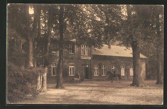 AK Hamburg-Gross-Borstel, Gasthaus Borsteler Jäger von W. Hartkopp