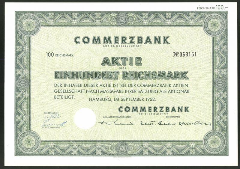 aktie von deutsche bank ag berlin 1940 reichsmark. Black Bedroom Furniture Sets. Home Design Ideas