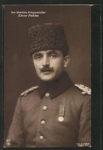 AK Kriegsminister der Türkei Enver Pascha in Uniform