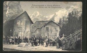 AK Zürich-Wiedikon, Volksschauspiel
