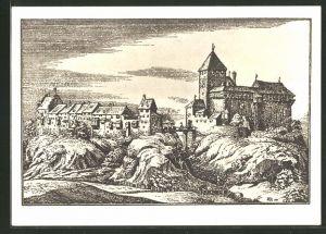 AK Grüningen, Schloss Grüningen bis 1783, 900-Jahrfeier von Schloss & Städtchen 1038-1938