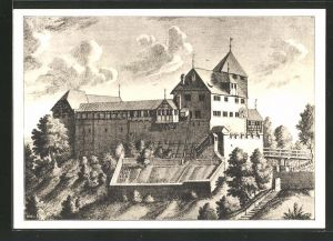 AK Grüningen, Südseite vom Schloss Grüningen 1730, 900-Jahrfeier von Schloss & Städtchen 1038-1938