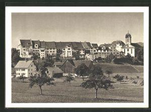 AK Grüningen, Totalansicht der Stadt, 900-Jahrfeier von Schloss & Städtchen 1038-1938