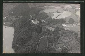 AK St. Martin im Mühlkreis, Schloss Neuhaus aus der Luft gesehen