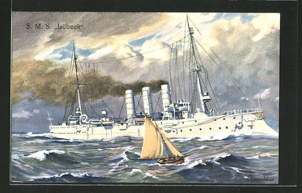 AK Kriegsschiff S.M.S.