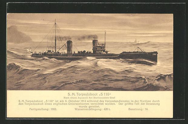 AK Kriegsschiff S. M.