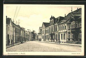 AK Grevesmühlen / Meckl., Lübsche Strasse mit Geschäften
