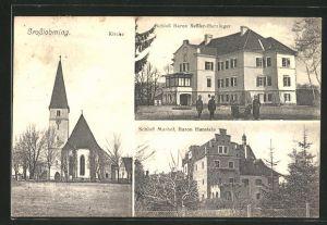 AK Grosslobming, Schloss Baron Sessler-Herzinger, Schloss Murhof, Baron Hanstein, Kirche