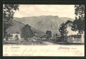 AK Altenberg, Dorfpartie mit Schneealpe