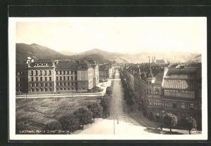 AK Leoben, Blick über die Franz-Josef-Strasse
