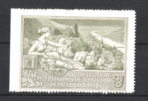Reklamemarke Heidelberg, Allgemeine Deutsche Photographische Ausstellung 1912