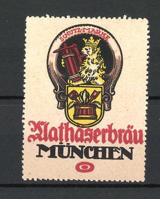 Reklamemarke München, Mathäserbräu, Wappen