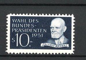 Reklamemarke Wahl des Bundespräsidenten 1951, Theodor Körner