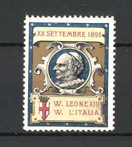 Reklamemarke Porträt Papst Leo XIII. am 20. September 1895
