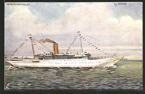 Künstler-AK Passagierschiff S. S.