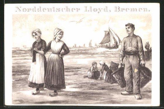 AK Fischer schaut junger Dame hinterher, Fischerei