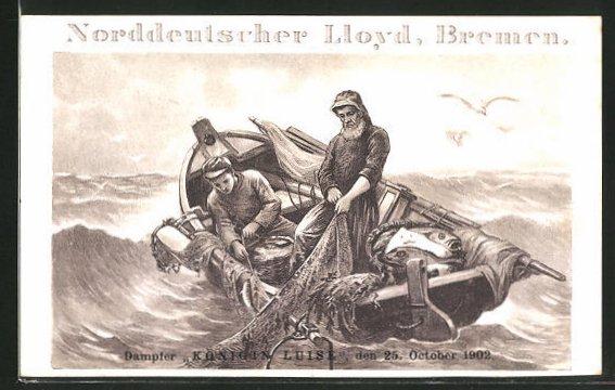 AK Fischer auf stürmischer See, Fischerei