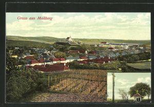 AK Mailberg, Ortsansicht aus der Vogelschau