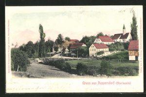 AK Ruppersdorf, Ortspartie mit Kirchturm