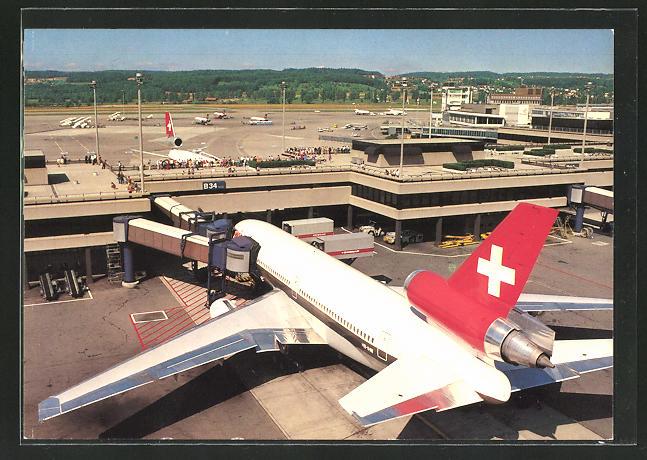 AK Zürich, Flughafen, Jet der Swissair