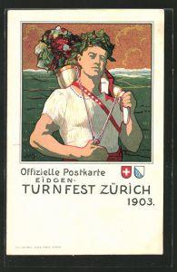 Lithographie Zürich, Eidgen. Turnfest 1903